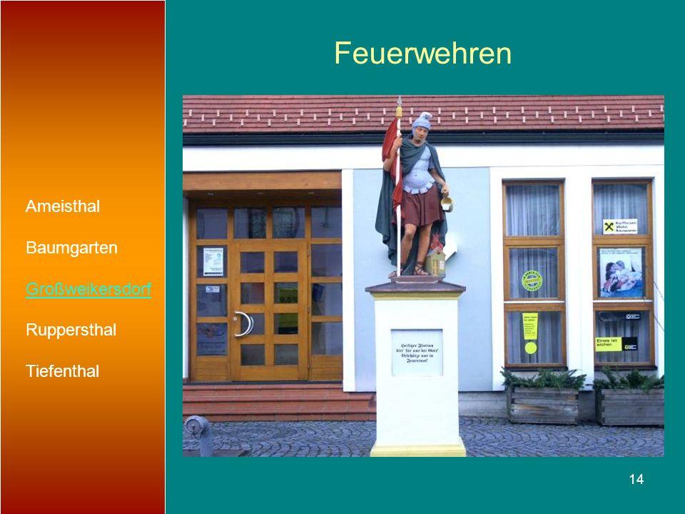 Feuerwehren Ameisthal Baumgarten Großweikersdorf Ruppersthal