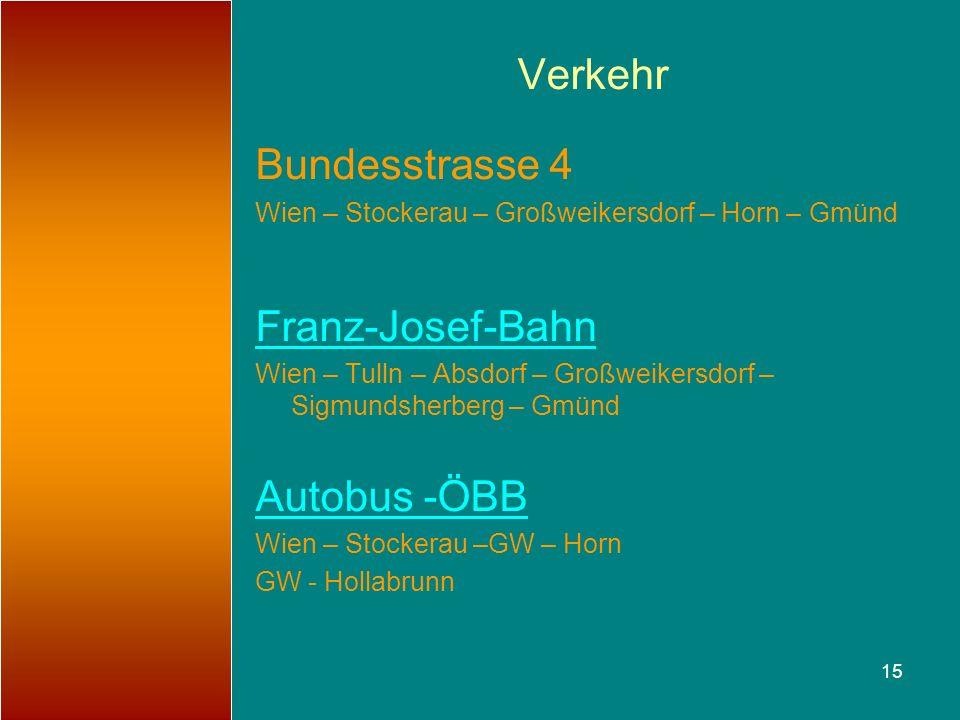 Verkehr Bundesstrasse 4 Franz-Josef-Bahn Autobus -ÖBB