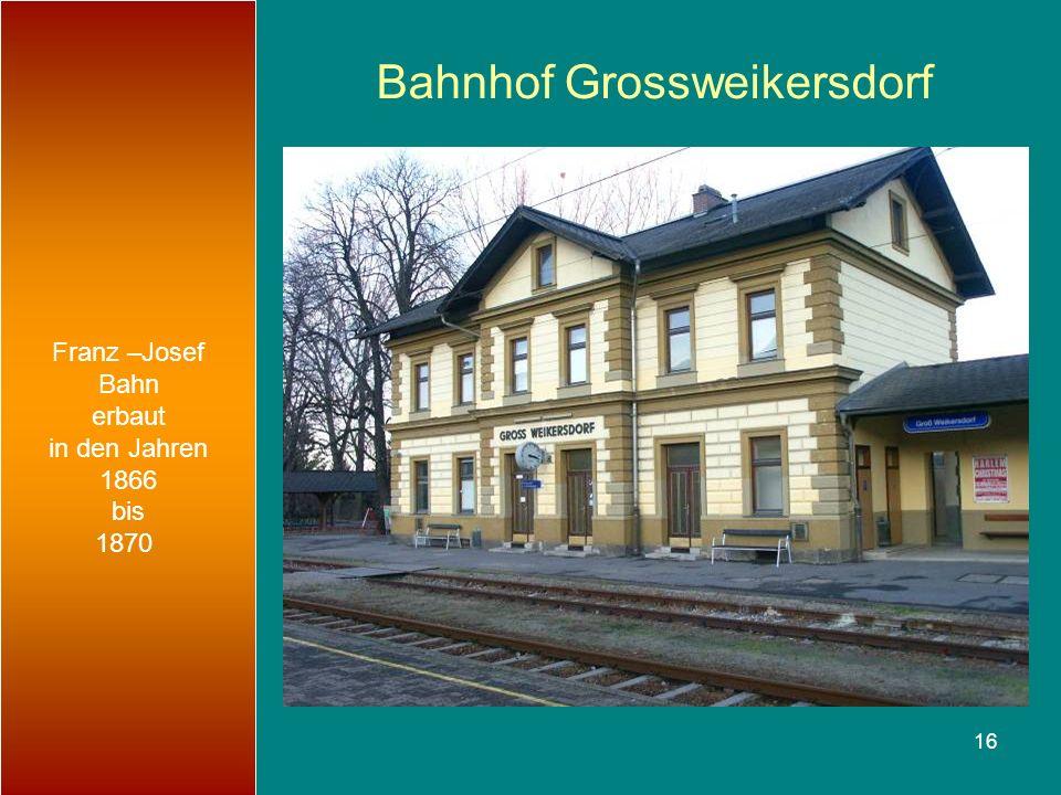 Bahnhof Grossweikersdorf