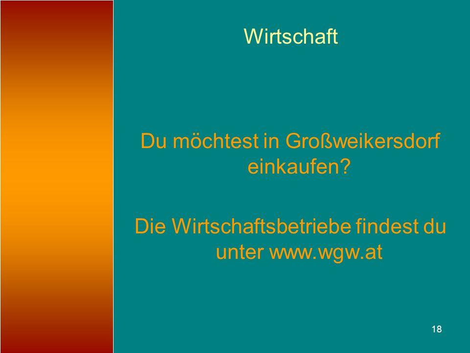 Du möchtest in Großweikersdorf einkaufen