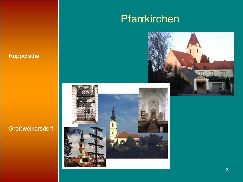 Pfarrkirchen Ruppersthal Großweikersdorf