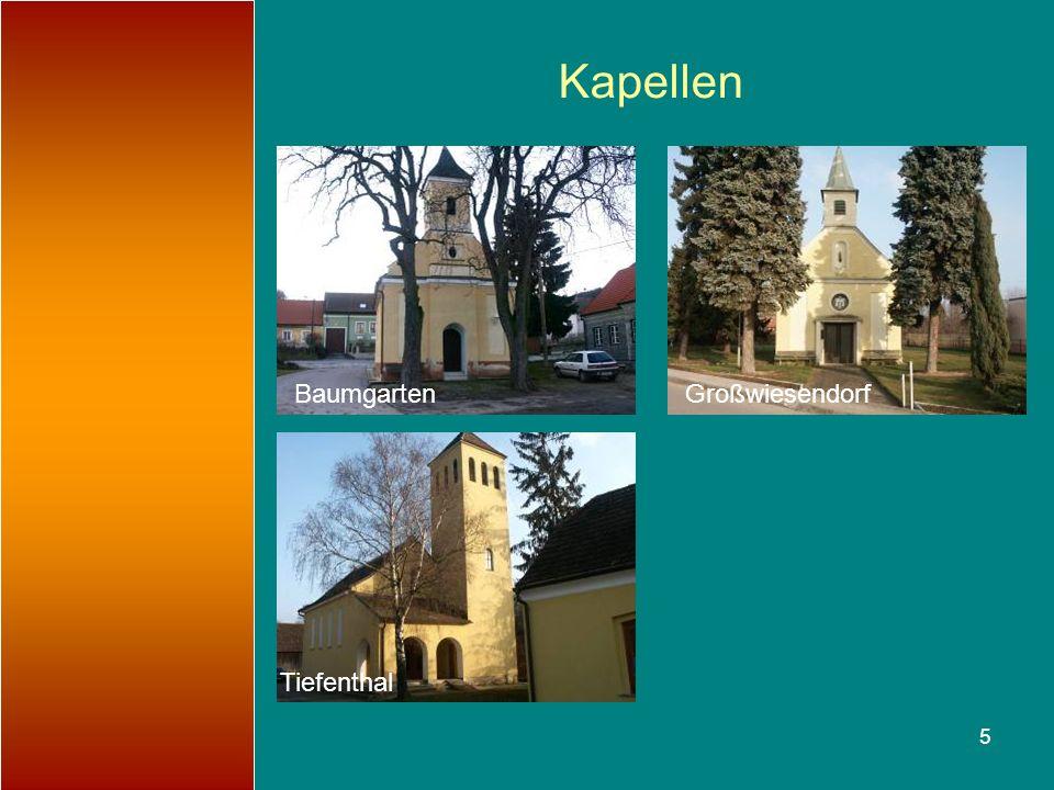 Kapellen Baumgarten Großwiesendorf Tiefenthal