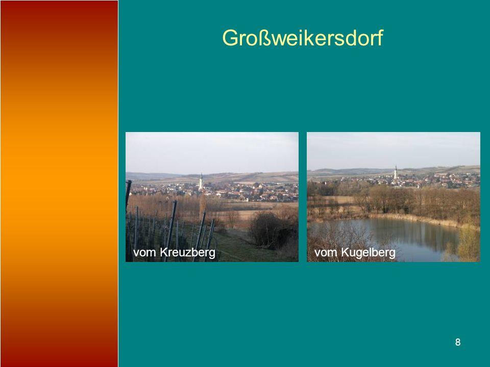 Großweikersdorf vom Kreuzberg vom Kugelberg