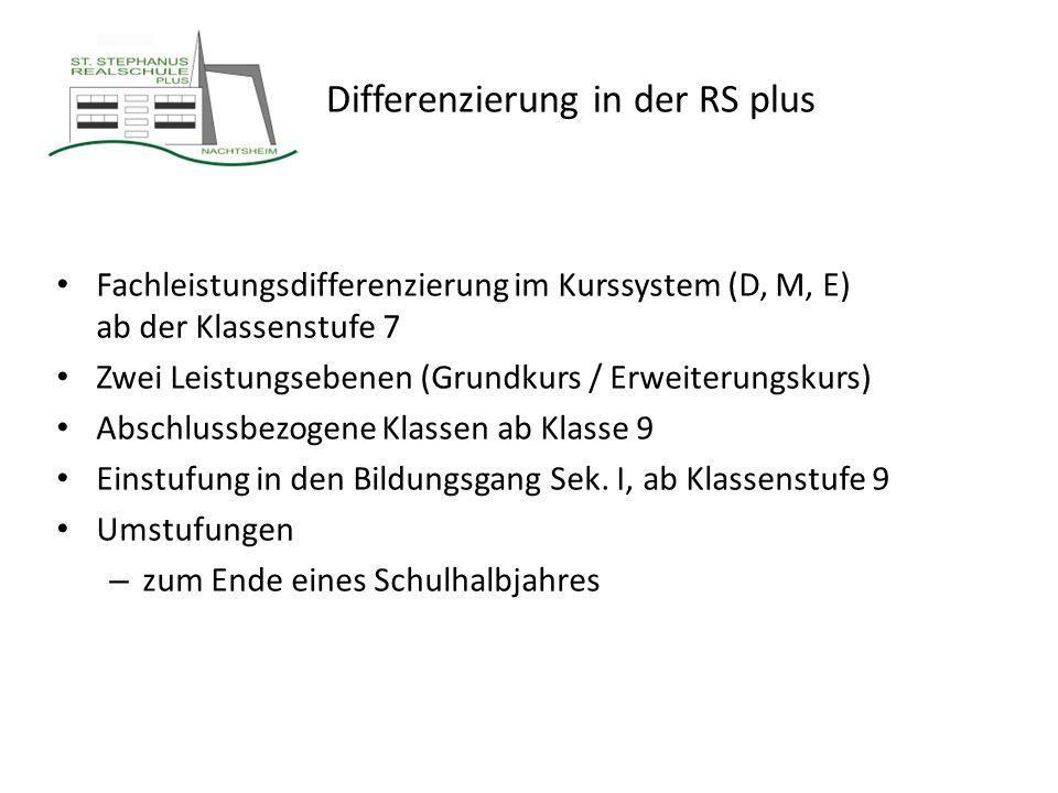 Differenzierung in der RS plus