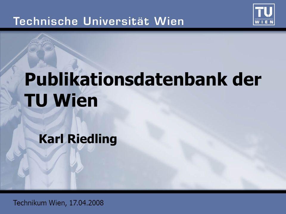 Publikationsdatenbank der TU Wien
