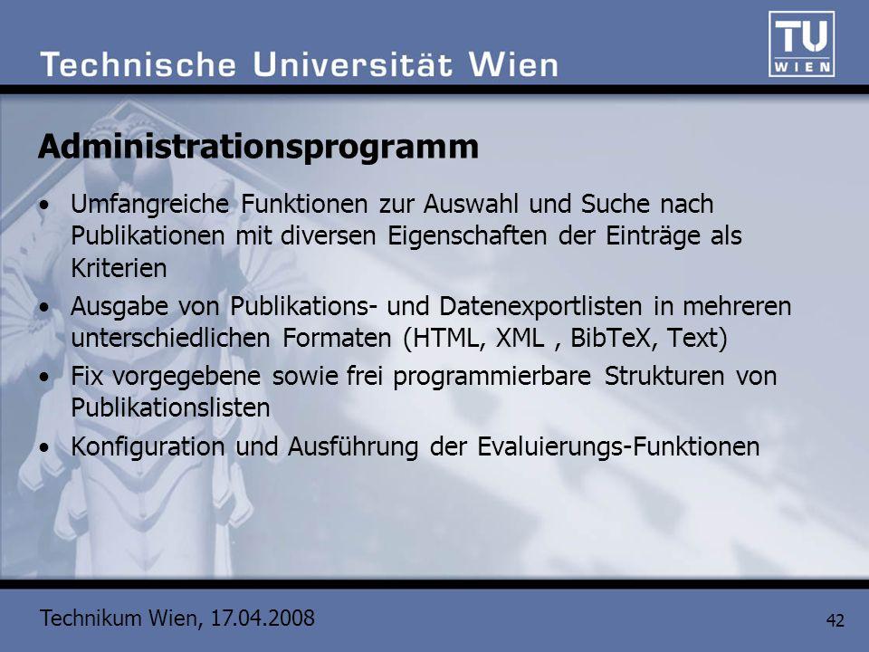 Administrationsprogramm