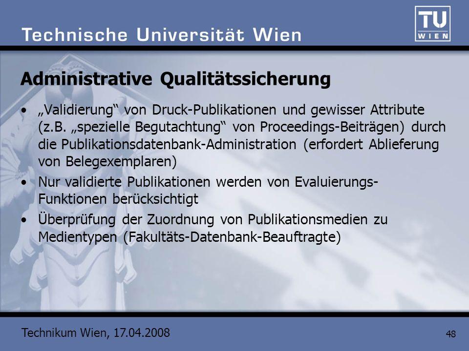 Administrative Qualitätssicherung