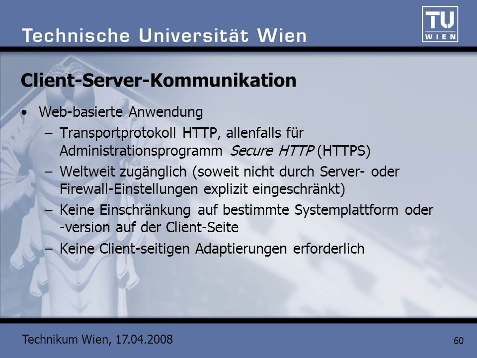 Client-Server-Kommunikation