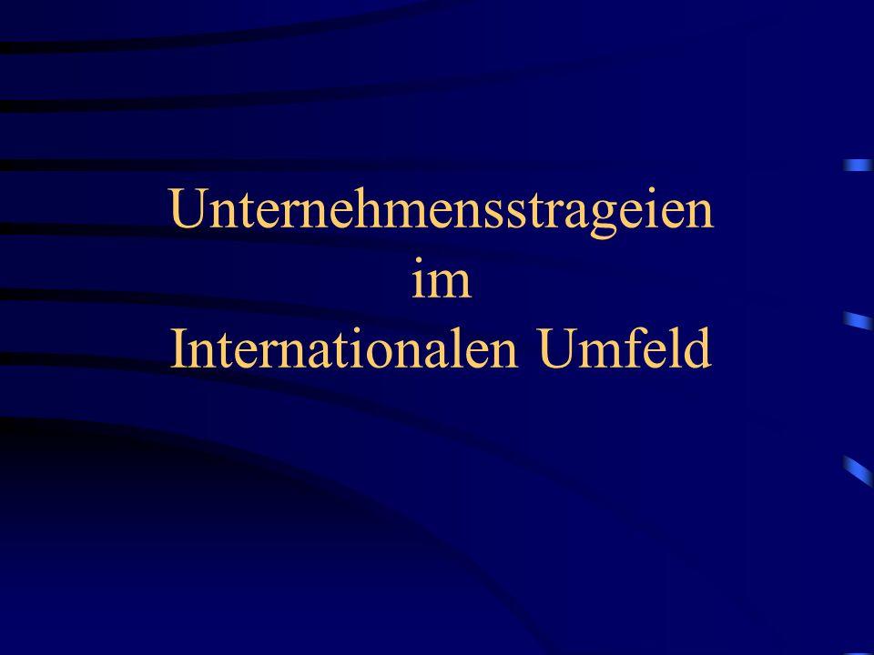 Unternehmensstrageien im Internationalen Umfeld
