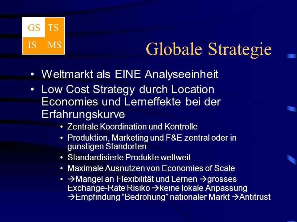 Globale Strategie Weltmarkt als EINE Analyseeinheit