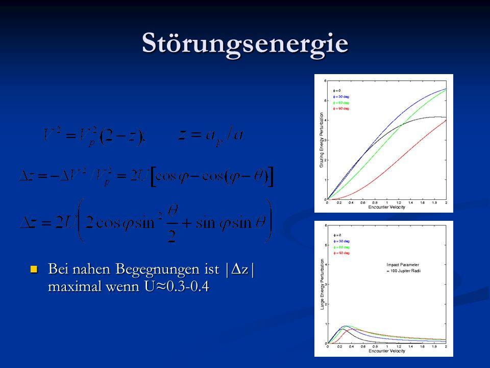 Störungsenergie Bei nahen Begegnungen ist |z| maximal wenn U≈0.3-0.4