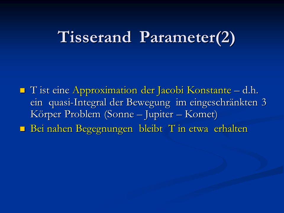 Tisserand Parameter(2)