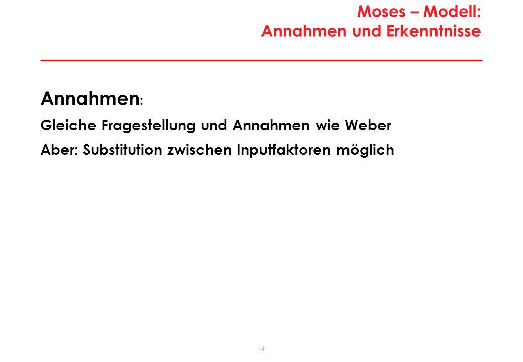 Standortmodell von Moses: Analyserahmen