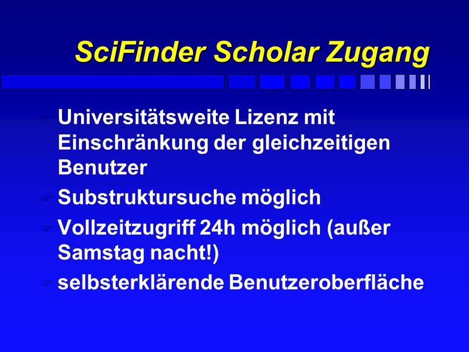 SciFinder Scholar Zugang