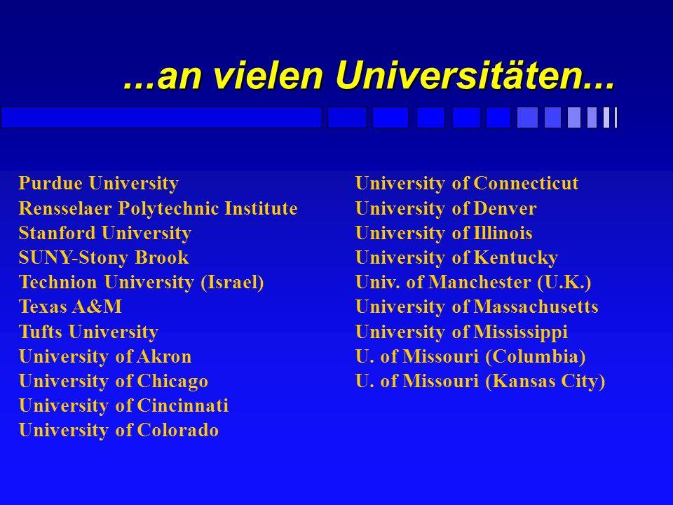 ...an vielen Universitäten...