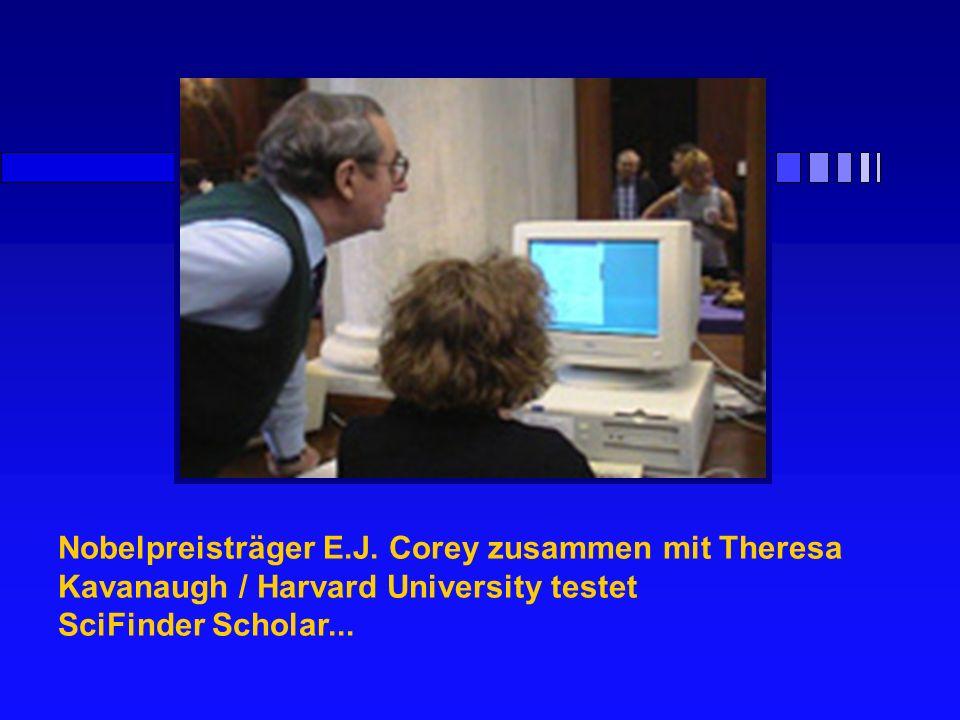 Nobelpreisträger E.J. Corey zusammen mit Theresa Kavanaugh / Harvard University testet