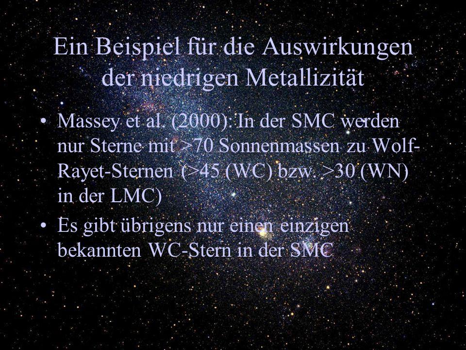 Ein Beispiel für die Auswirkungen der niedrigen Metallizität