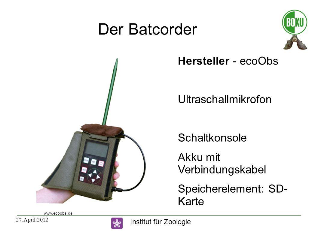 Der Batcorder Hersteller - ecoObs Ultraschallmikrofon Schaltkonsole