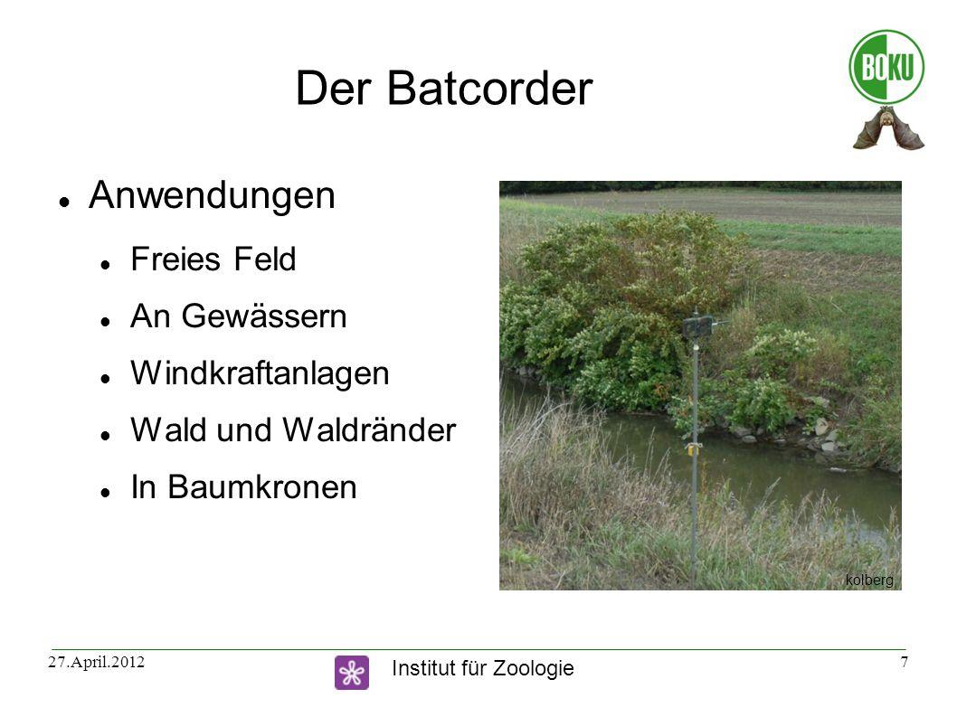 Der Batcorder Anwendungen Freies Feld An Gewässern Windkraftanlagen