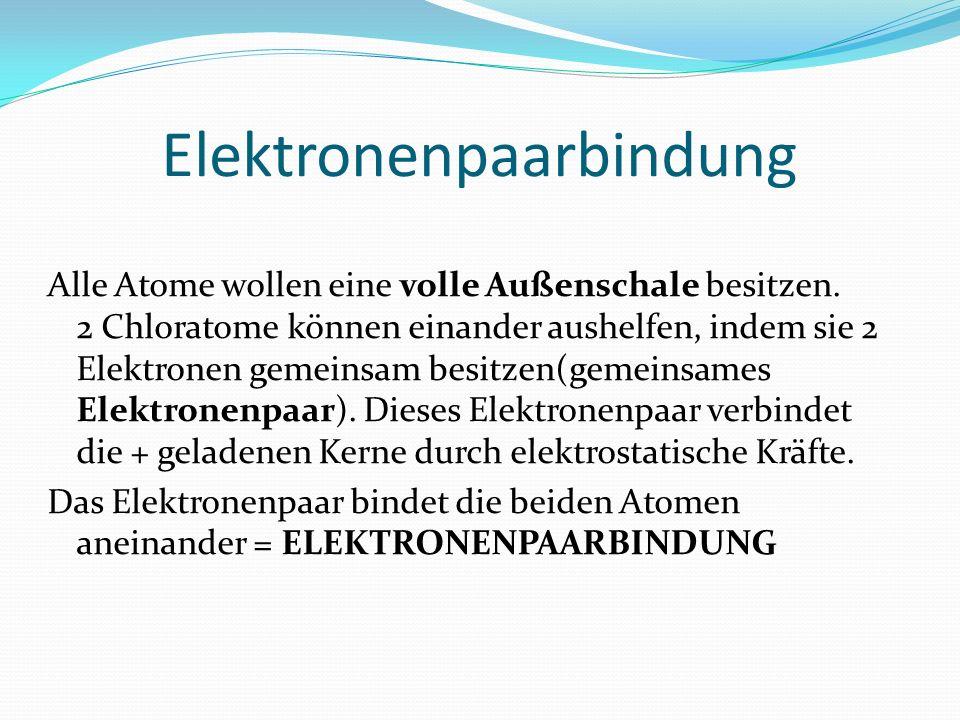 Elektronenpaarbindung
