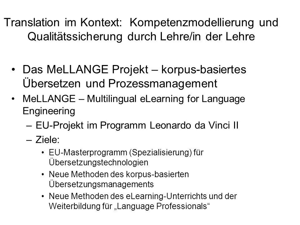 Translation im Kontext: Kompetenzmodellierung und Qualitätssicherung durch Lehre/in der Lehre