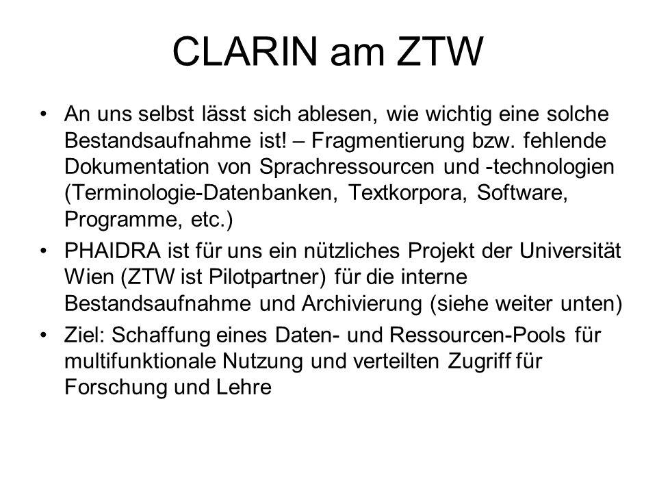 CLARIN am ZTW