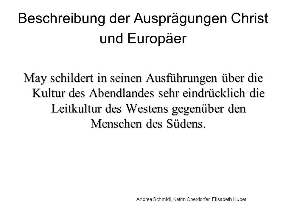 Beschreibung der Ausprägungen Christ und Europäer