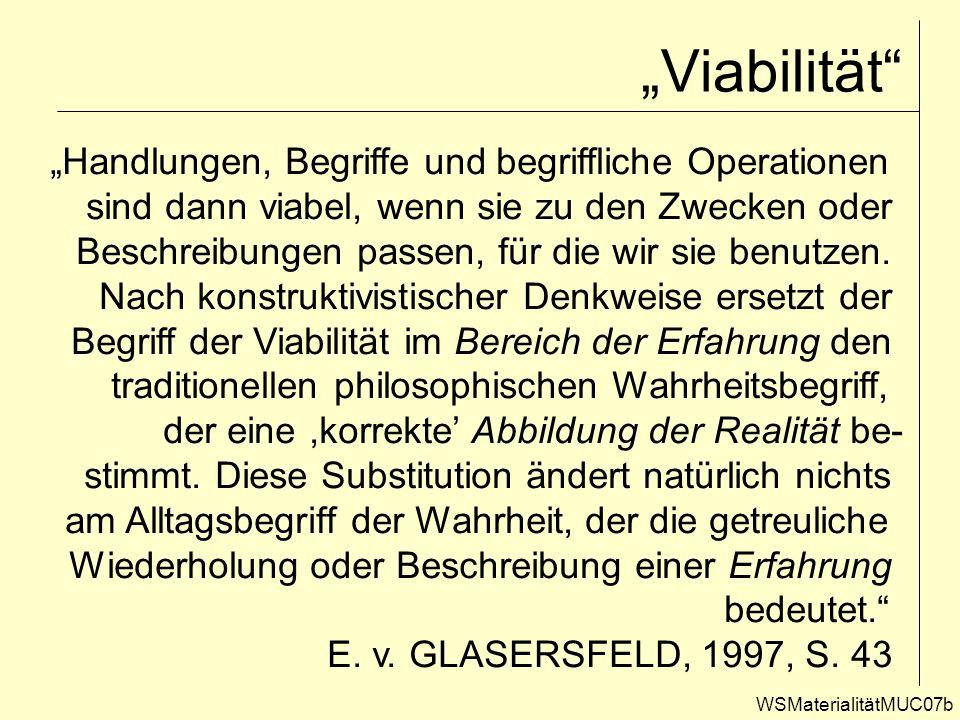"""""""Viabilität """"Handlungen, Begriffe und begriffliche Operationen"""