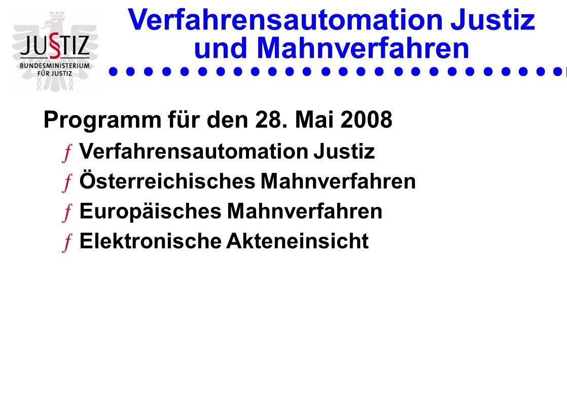 Verfahrensautomation Justiz und Mahnverfahren