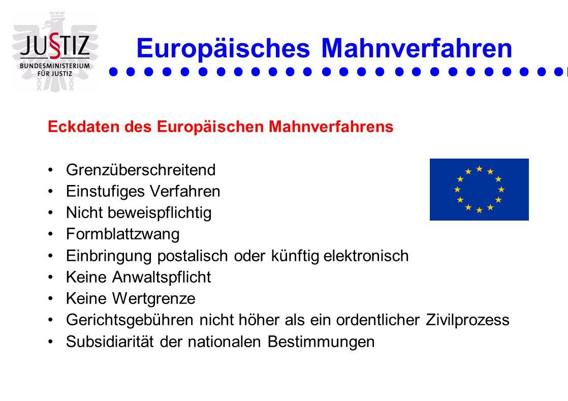 Europäisches Mahnverfahren