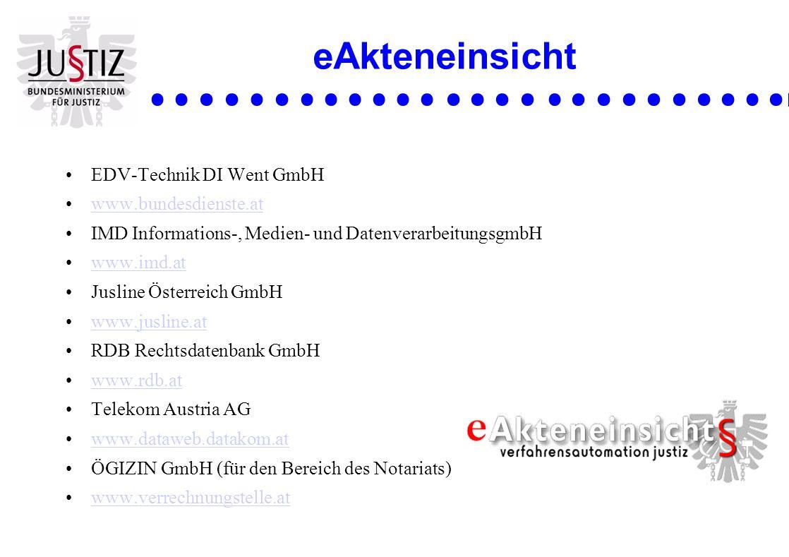 eAkteneinsicht EDV-Technik DI Went GmbH www.bundesdienste.at
