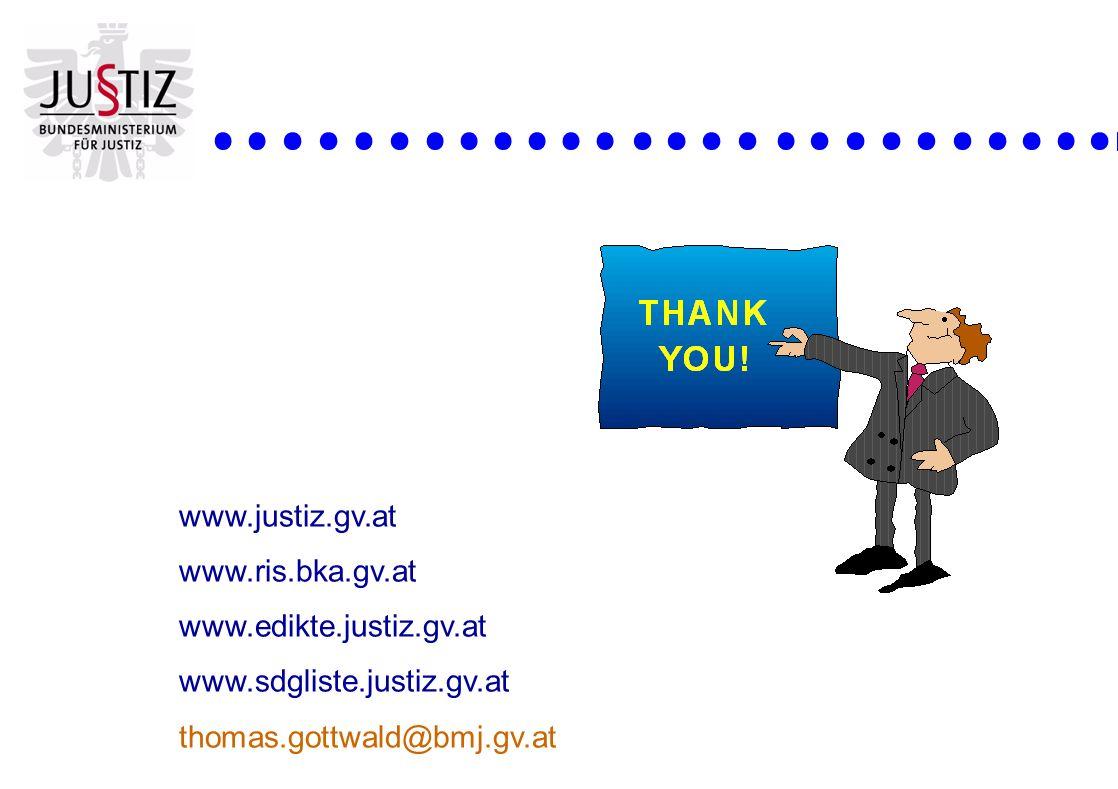 www.justiz.gv.at www.ris.bka.gv.at. www.edikte.justiz.gv.at.