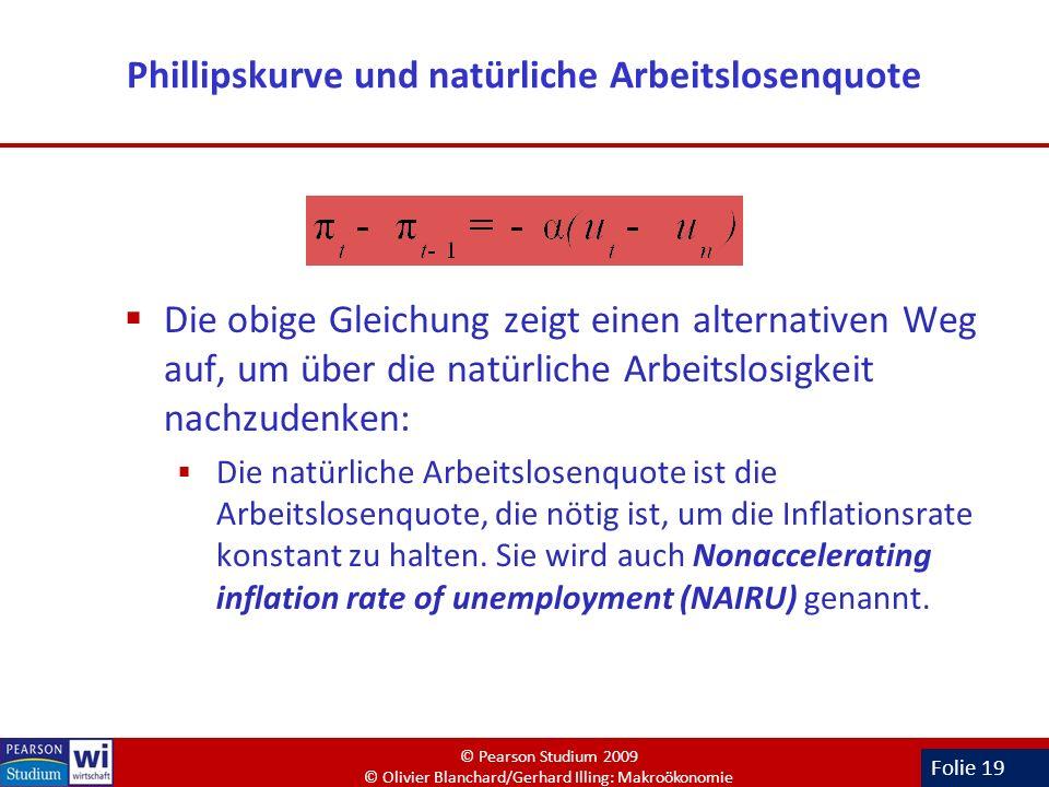 Phillipskurve und natürliche Arbeitslosenquote
