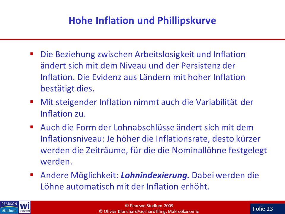 Hohe Inflation und Phillipskurve