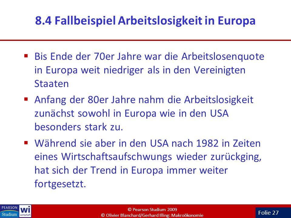 8.4 Fallbeispiel Arbeitslosigkeit in Europa