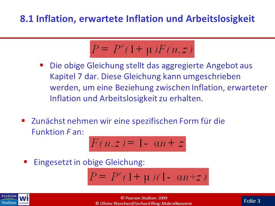 8.1 Inflation, erwartete Inflation und Arbeitslosigkeit