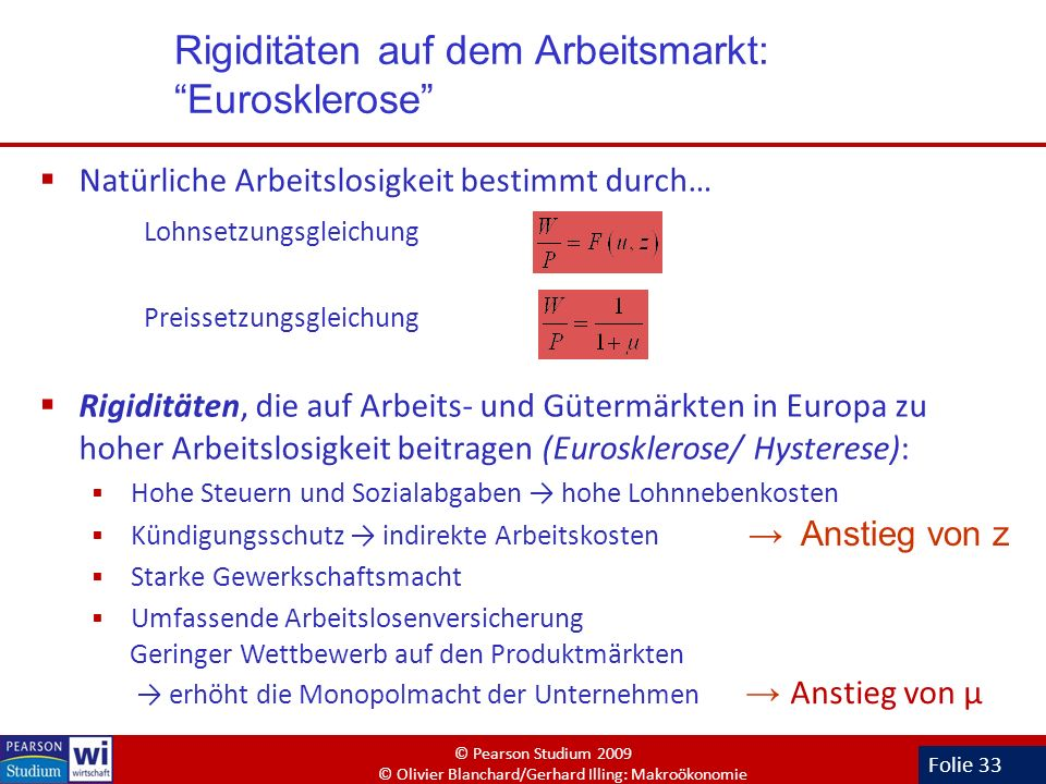 Rigiditäten auf dem Arbeitsmarkt: Eurosklerose