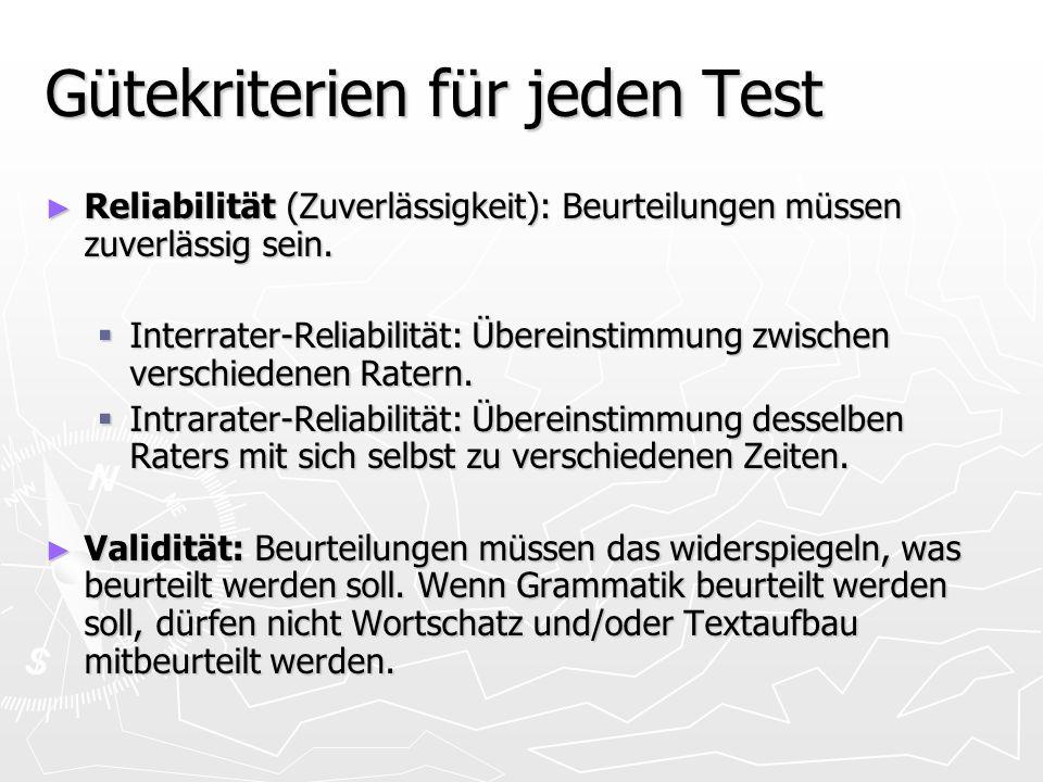 Gütekriterien für jeden Test