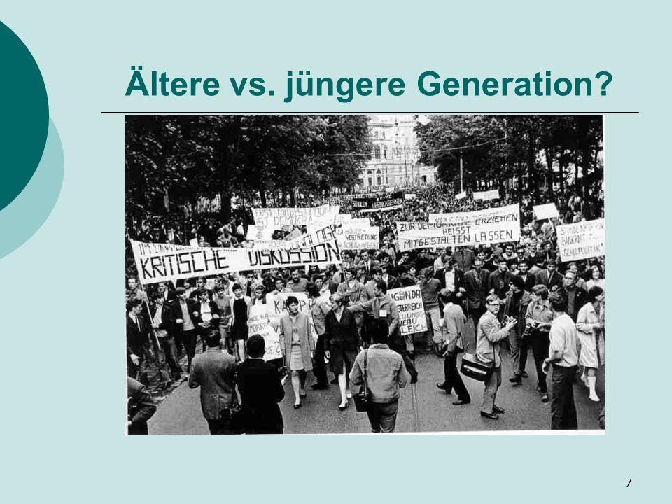 Ältere vs. jüngere Generation