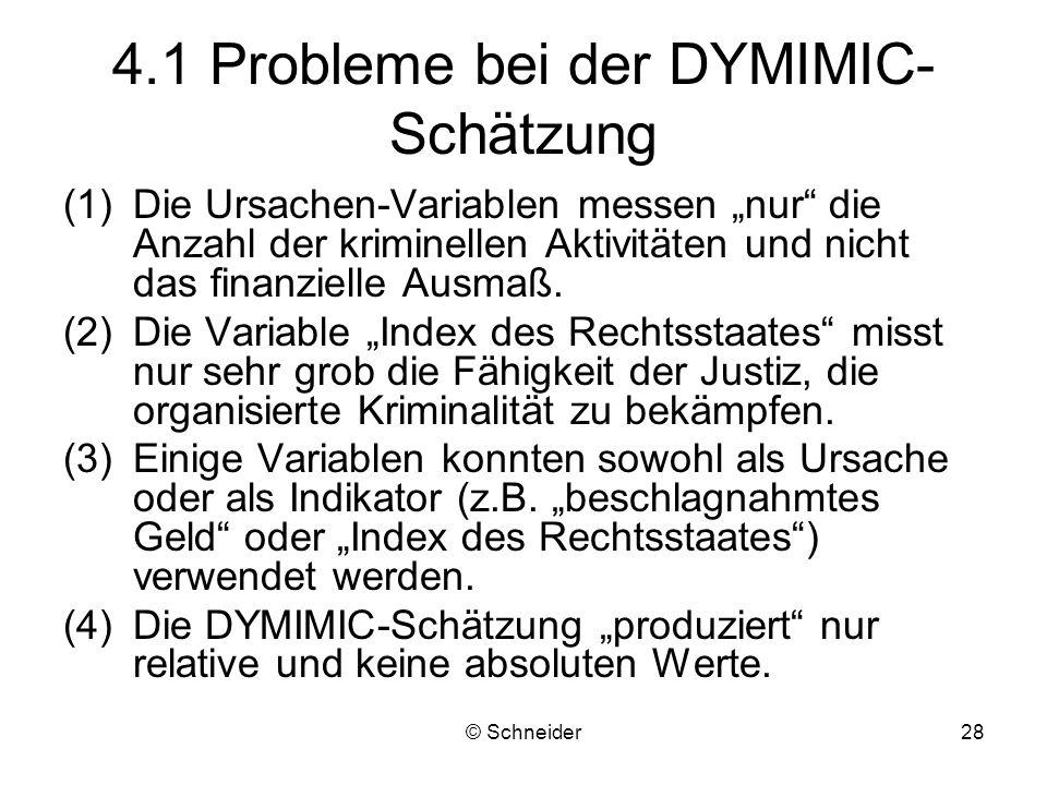 4.1 Probleme bei der DYMIMIC-Schätzung