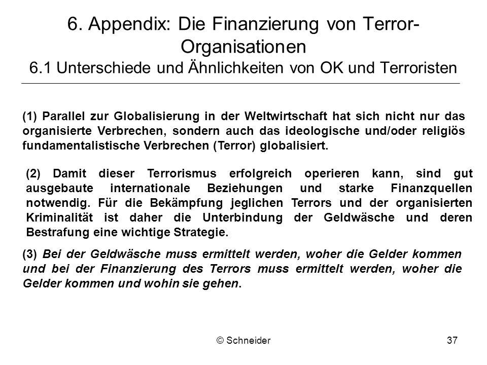 6. Appendix: Die Finanzierung von Terror-Organisationen 6