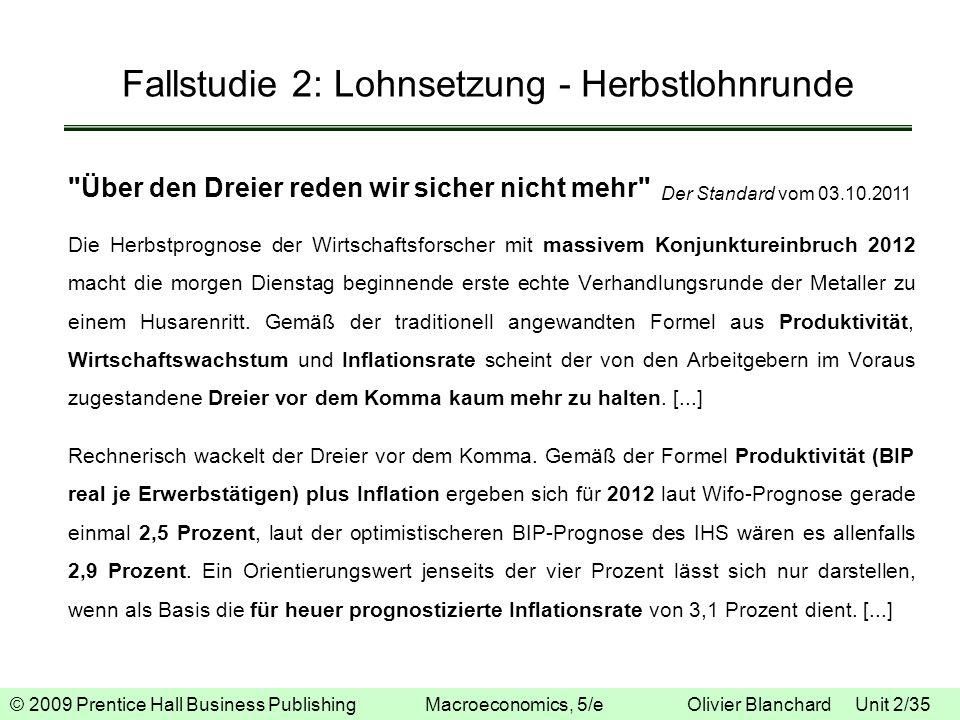 Fallstudie 2: Lohnsetzung - Herbstlohnrunde