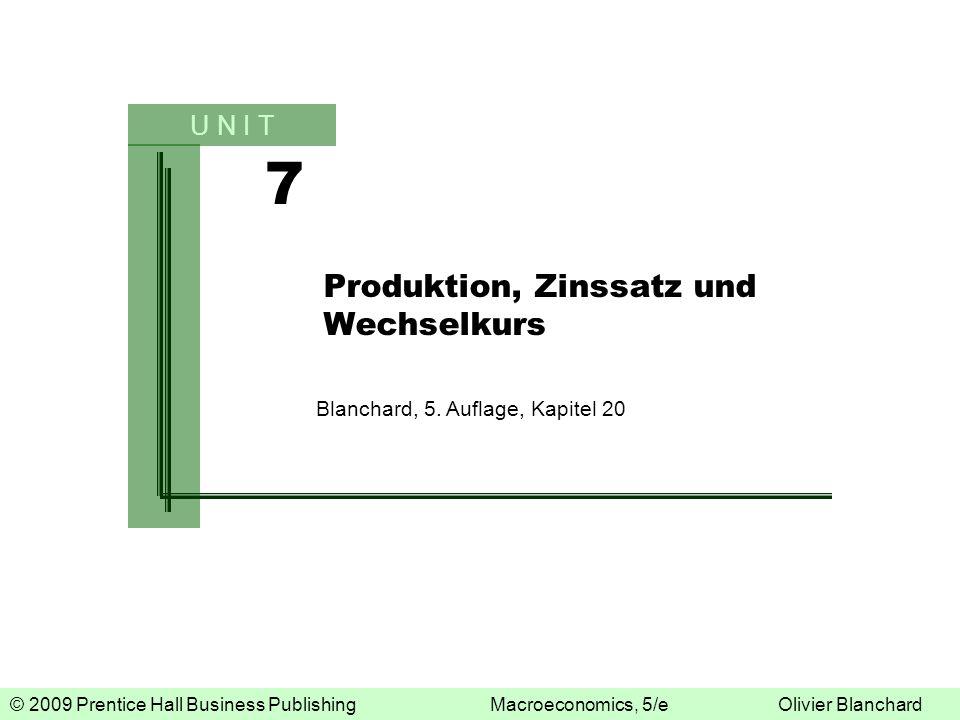 Produktion, Zinssatz und Wechselkurs