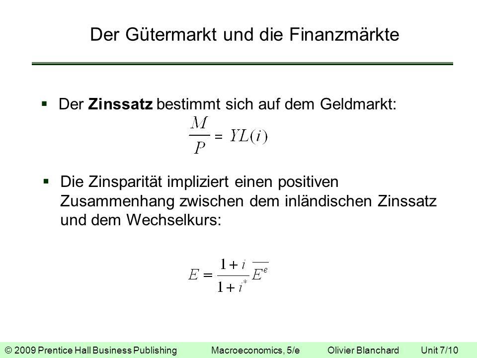 Der Gütermarkt und die Finanzmärkte