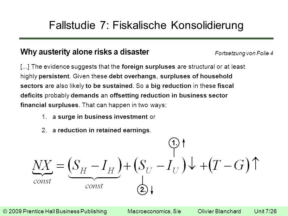 Fallstudie 7: Fiskalische Konsolidierung