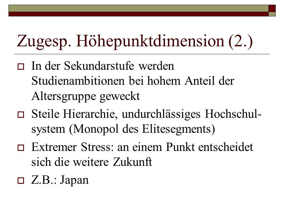 Zugesp. Höhepunktdimension (2.)