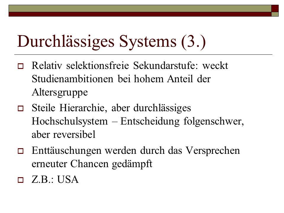 Durchlässiges Systems (3.)