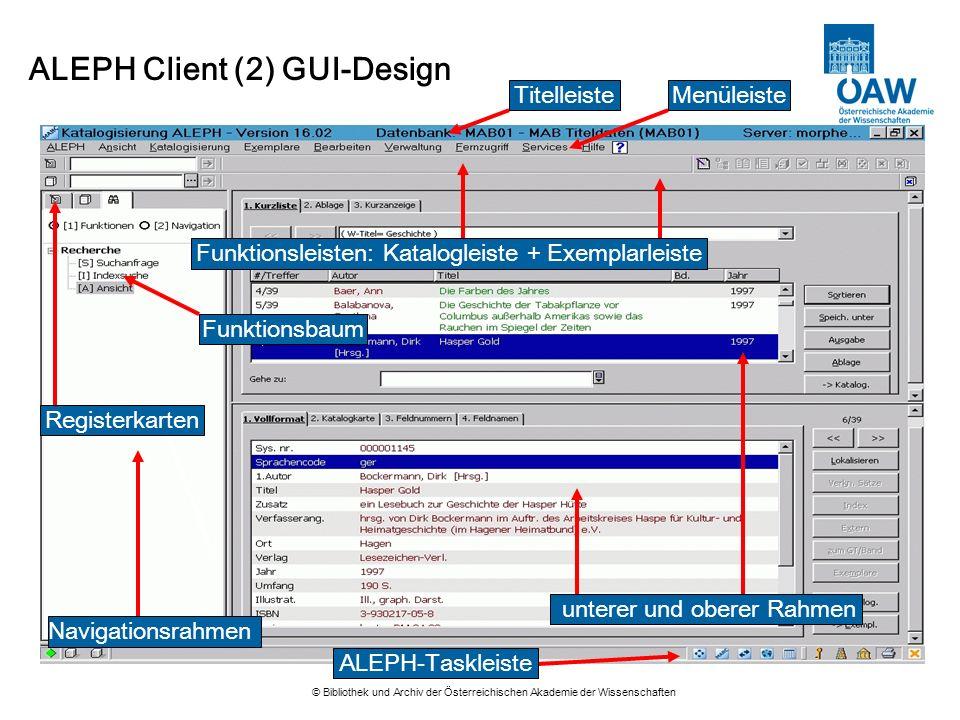 ALEPH Client (2) GUI-Design
