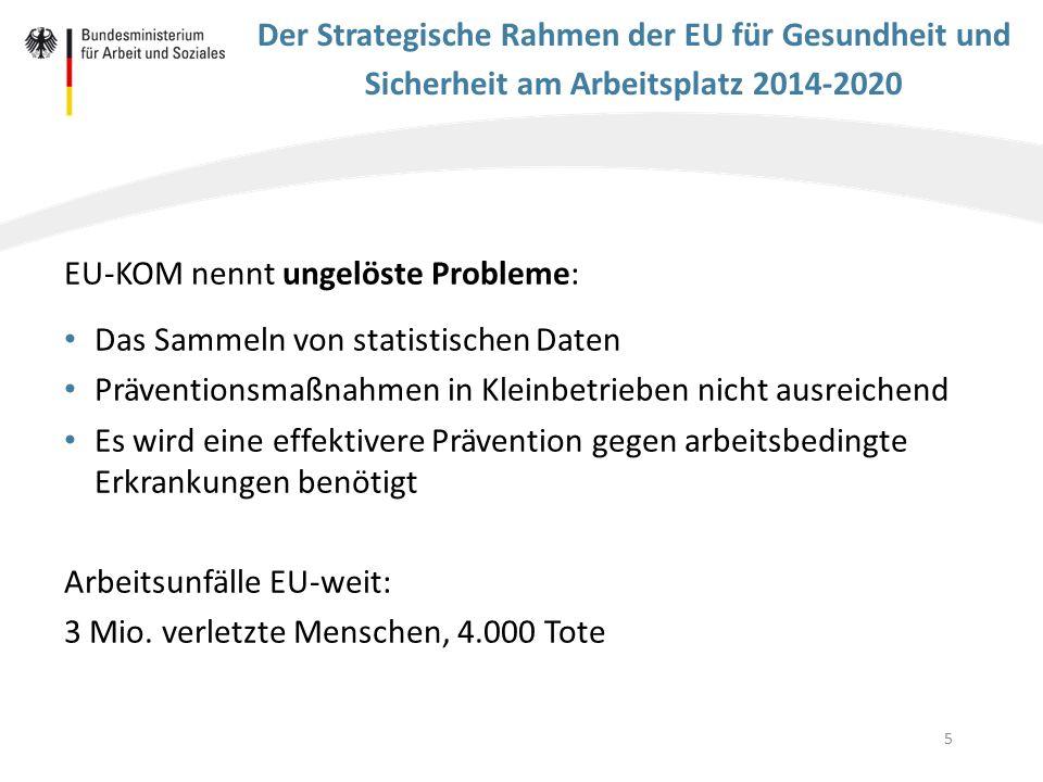 EU-KOM nennt ungelöste Probleme: Das Sammeln von statistischen Daten
