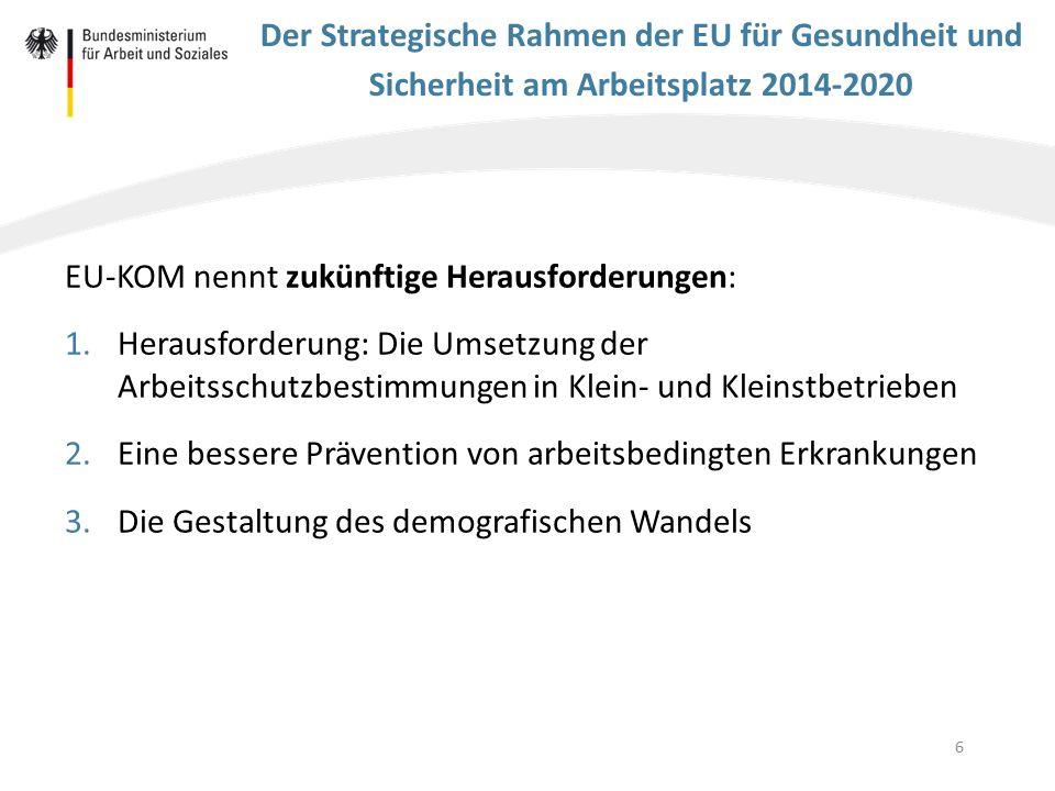 EU-KOM nennt zukünftige Herausforderungen: